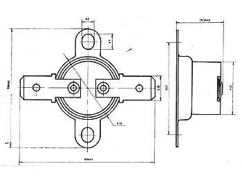 Velleman - CPB70 Bimetallschalter NC/Öffner 70°; 151183