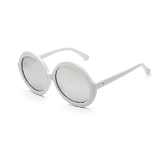 BENatural-UK Sonnenbrille, Retro-Brille, runde Form, mit großem Rahmen, C5, Grau