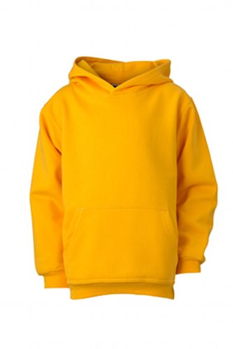 James & Nicholson Jungen Sweatshirt Hooded Sweat Junior, Gr. Small (Herstellergröße: S (110/116)), Gelb (gold-yellow)