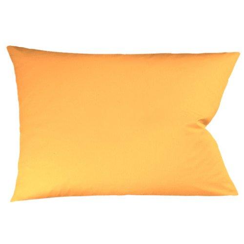 fleuresse Kissenbezug colours Satin Uni 9100-2046, Mako Satin in 40x80 cm, Farbe Gold, 100% Baumwolle, mit Reißverschluss