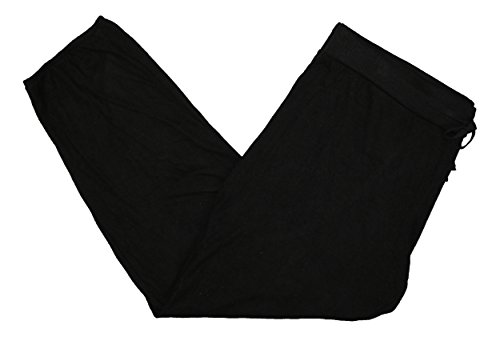 Alfani Initmates Brushed Jogger Pajama Bottoms Pants (Medium, Classic Black) -