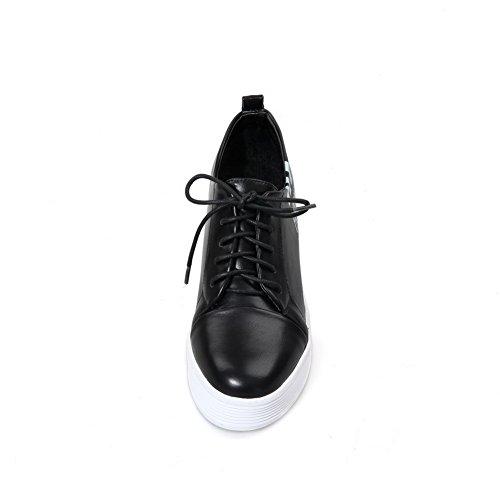 BalaMasa da donna, con tacco, senza lacci, in pelle, per scarpe Imitated pompe Nero (nero)