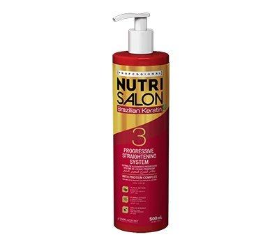 NUTRI SALON - Brazilian Keratin - Progessive Straightening System - 3 - 500ml -