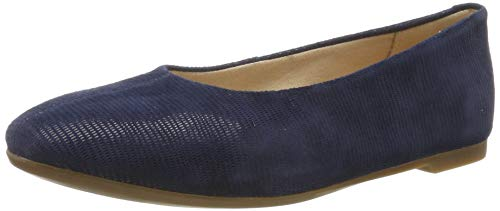 Clarks Damen Chia Violet Geschlossene Ballerinas, Blau Navy Interest, 41.5 EU Navy Leder High Heels