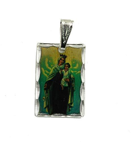Medalla de Virgen del Carmen de Florida, con Cadena de 45 cm, con Colgante de Virgen del Carmen