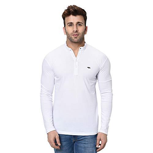 Fashitude Men's Solid Mandarin Collar Full Sleeve T-Shirt