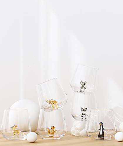 MINIZOO PARIS Verre à eau   Lot de 6   345cc   série planète   Fête   Cadeaux d'anniversaires pour femme   Figurines en Verre de Murano pour la décoration intérieur