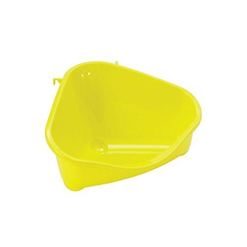 Bandeja Sanitaria rinconera para roedores - Pequeña - Color Limón