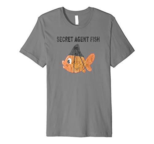 Lustiges Geheimagenten Hai Fisch als Secret Agent T-Shirt - Tarnung-fischen-shirt