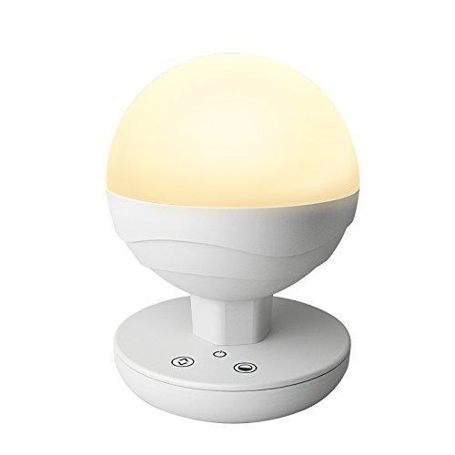 Ascher Dimmbar Mehrfunktional LED Tischleuchte Nachtlampe Nachtlicht Nacht Tischlampe tragbar aufladbar stufenlos für Indoor & Outdoor (CCT 2700K - 6500K Dimmbar, Built-in 2200 mAh Batterie)