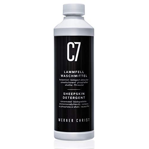 CHRIST Lammfell-Waschmittel C7 von Werner geeignet für alle waschbaren Schaffelle und Lammfellartikel sowie Naturfasern, biologisch abbaubar, umweltschonend, 500 ml