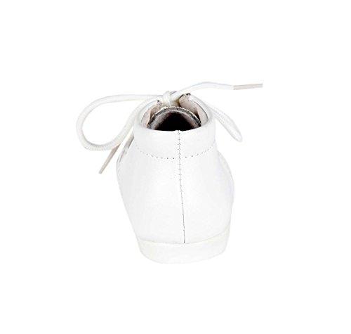 Bottines en cuir lisse - bébé mixte Blanc
