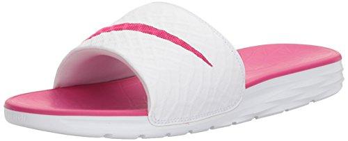 Nike Women's Benassi Solarsoft Equestrian Boots, White/Fireberry