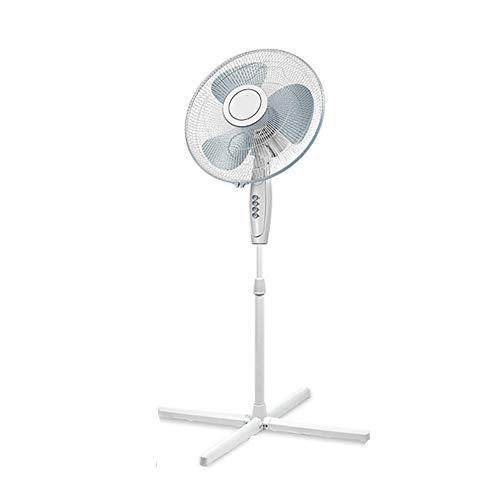 Solide Antitranspirant (Floor fan Standventilatoren, Heimschüttler Vertikal Basic Bodenventilator, Dreistufiger Mechanischer Tischventilator, Dreiblattwind, Weiß, 120CM)