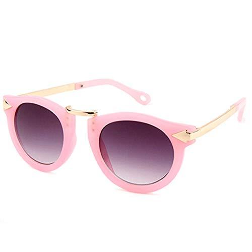 FEKETEUKI Vintage Retro Runde Baby Jungen Mädchen Kinder Leopard Sonnenbrille Shades Uv400 Kinder Sonnenbrille Goggle-Pink-1 Größe