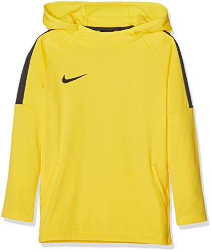 Nike Boys' Dry Academy18 Football Hoodie Sweatshirt, Niños, Amarillo (Tour Yellow Anthracite/(Black), S