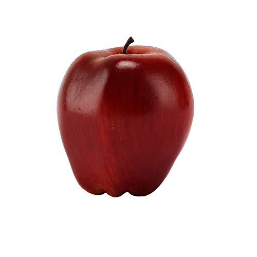 Thumbelin 5Pcs Simulation Artificial Dark Red Apfel Red Delicious Äpfel für Haus Haus Küche Hochzeit Dekor