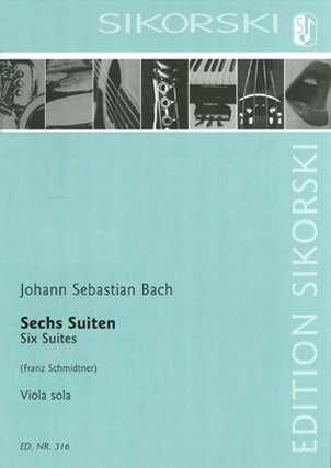 Johann Sebastian Bach, 6 Suiten BWV1007-1012 für Cello übertragen für Viola solo in der Sikorski Edition - Noten/sheet music