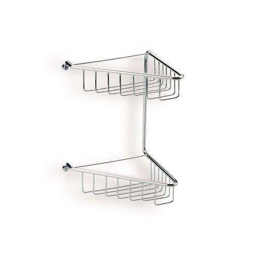 stilhaus ameublement bain – Grille d'angle 2 étages Laiton Chrome
