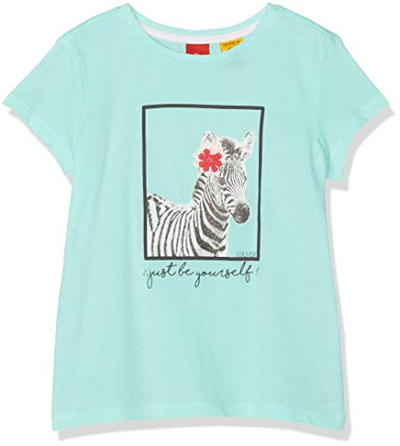 s.Oliver Mädchen 53.904.32.5633 T-Shirt, Türkis (Mint 6117), 116 (Herstellergröße: 116/122/REG) -