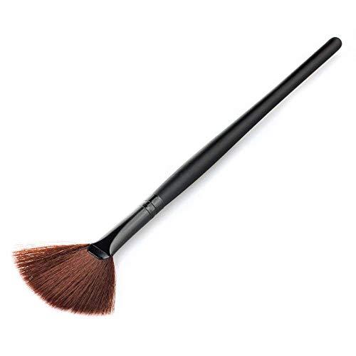 Lumanuby Femme en forme d'éventail Brosse Poudre Brosse Maquillage Brosse de beauté Noir Taille : 17.5 * 0.5 * 0.5 cm