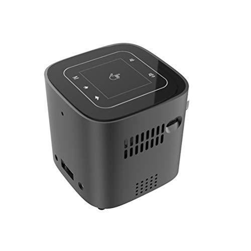 LHJCN Beamer, Videobeamer Heimkino-Projektor Unterstützung 1080P 30.000H LED kompatibel mit iPhone Android-Telefon über USB, Black