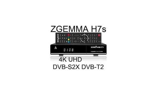 Zgemma H7S - 4k - Dual sat DVB-s2X - DVB-T2: Amazon co uk: Electronics