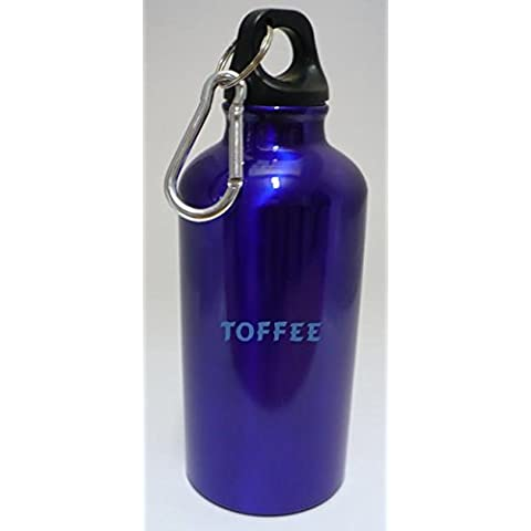 Personalizada Botella cantimplora con mosquetón con Toffee (nombre de pila/apellido/apodo)