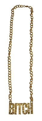 Halskette BITCH gold ca. 32 cm