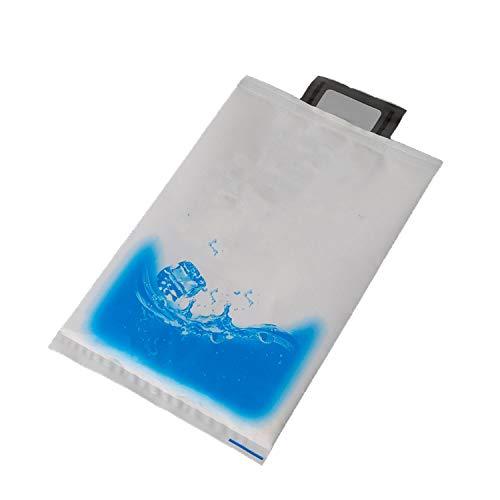 re Eisbeutel aus Kunststoff für Lebensmittelaufbewahrung, Eisgel-Packungen, Würfel aus Polyethylen-Harz, Weiß/Blau Geschirr Einheitsgröße 400ml ()