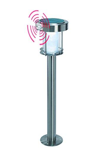 Solar Wegeleuchte Ancona Professional Duo color, warmweißes & kaltweißes Licht umschaltbar, mit Bewegungsmelder und hochwertigem Echtglas-Solarmodul, Höhe: ca. 71cm, 2 Lichtstufen, esotec 102534 - Solar-duo