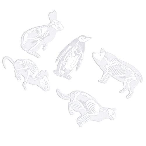 F Fityle 6 Stücke Brosche Pin Cartoon-Tierbrosche Harz Rucksack Jeansjacke Kragen Revers Pin Metall Abzeichen Schmuck Geschenk (Kostüm Schmuck Broschen Großhandel)