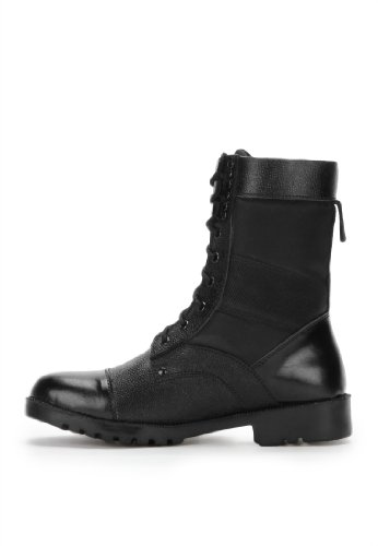 Armstar Men's Black Leather High Ankle Boots (Aa-Dms2) 9 UK