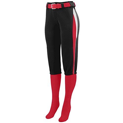 Augusta Sportswear Women'S Comet Softball Pant M Black/Red/White (Low Rise Damen Softball)