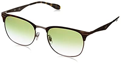 Ray-Ban UV Protected Square Unisex Sunglasses - (8053672926910|53|Green Color Lens)