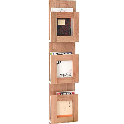 Standregal Bücherregal Rustikale Holz 5-Ebenen Wand schwimmende Regaleinheit Wandregal hängen...