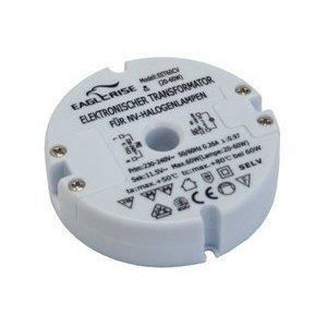 Transformator Elektronischer Halogen Trafo runde Bauform ( Durchmesser 73 mm), 230 V auf 12 V, 20-60 Watt von Transmedia bei Lampenhans.de
