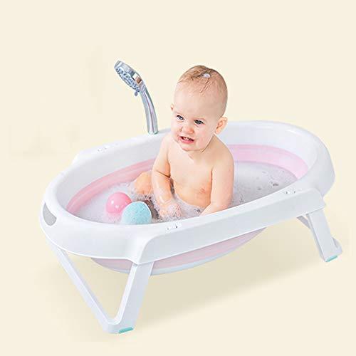 Badewannen ohne Belüftung Baby Klappbett Kinderbad Babybadewanne (Color : Pink)