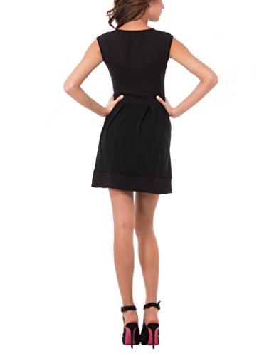"Solo Capri Abito Modello ""Audrey Hepburn"", Robe Femme Noir"