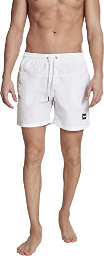 Urban Classics Herren Badehose Block Swim Shorts white M