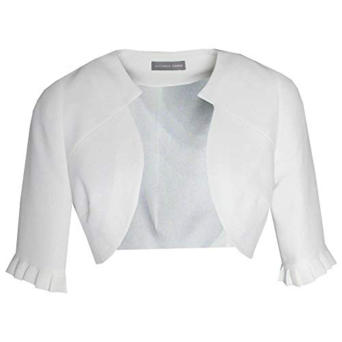 Michaela Louisa 3/4 Sleeve Edge to Edge Bolero Jacket
