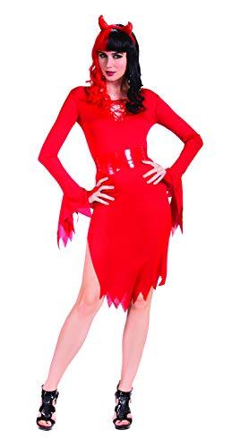 SYMTOP Halloween Kostüm Damen Verkleidung Fantasie Teufel Sexy Kleid Outfit Cosplay Maskerade mit Stirnband S (Teufel Kostüm Für Erwachsene)