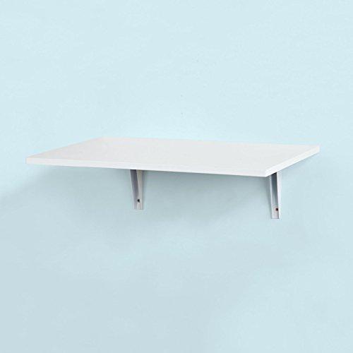 SoBuy® FWT21-W,Tavolo da Muro Pieghevole,Due Supporti,60 * 40 cm ...