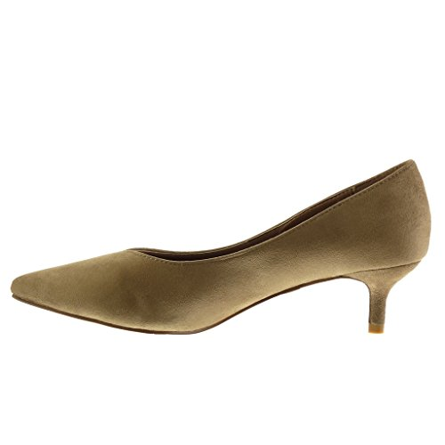 Angkorly - damen Schuhe Pumpe - Stiletto - Dekollete Stiletto high heel 5 CM Khaki