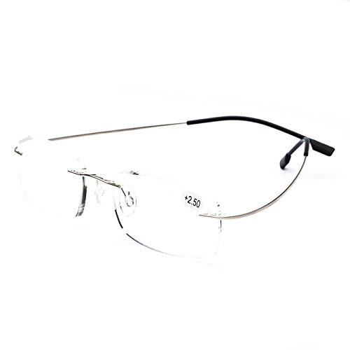 Gafas De Lectura Hombre Mujer Titanio Sin Aros Reading Glasses 601(+3.50)
