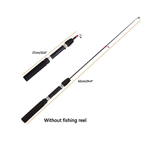 n Angelruten Angelrollen zu Rod Combo Pen Pole Köder wählen Tackle Spinning Casting Soft-Rod Orange ()
