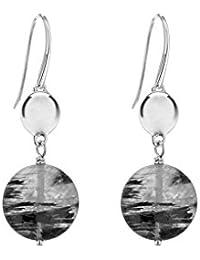 Tuscany Silver 8.58.7239 - Pendientes de plata de ley (925/1000), con cuarzo (0.05)