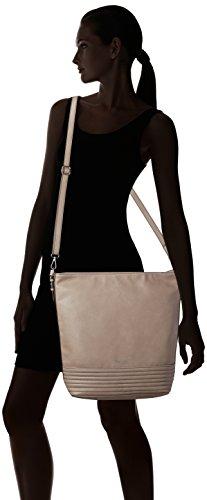 Tamaris Damen Crizia Hobo Bag Schultertaschen, 39x35x14 cm Beige (taupe 341)