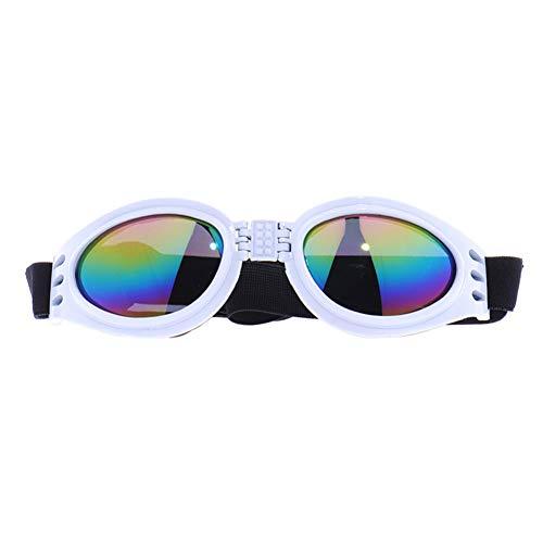 Trifycore Gafas a Prueba de Viento de la Moda Estilo Gafas de Sol para Mascotas en Puntos de Prueba Perros UV para Mascotas Blanca Grande, pequeñas Tiendas de Mascotas