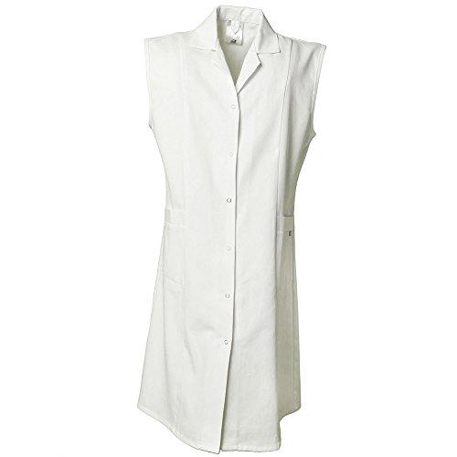 Planam Damen Mantel BW ohne Arm Größe 36, XS, reinweiß, 1692036